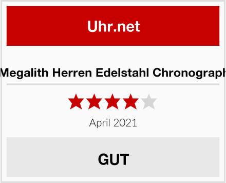 Megalith Herren Edelstahl Chronograph Test