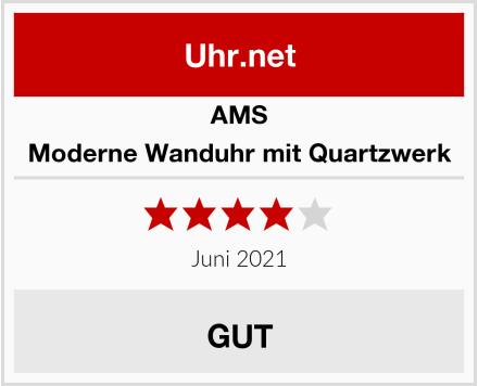 AMS Moderne Wanduhr mit Quartzwerk Test