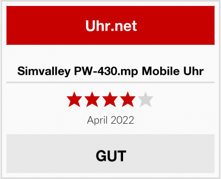 Simvalley PW-430.mp Mobile Uhr Test