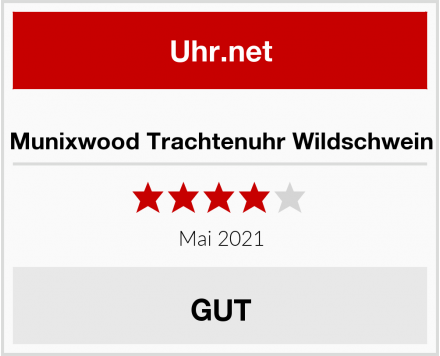 Munixwood Trachtenuhr Wildschwein Test