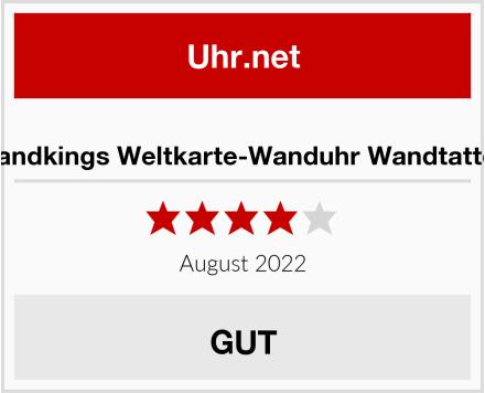 Wandkings Weltkarte-Wanduhr Wandtattoo Test