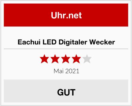 Eachui LED Digitaler Wecker Test