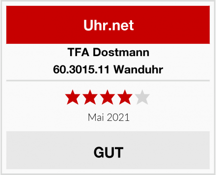 TFA Dostmann 60.3015.11 Wanduhr Test