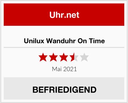 Unilux Wanduhr On Time Test