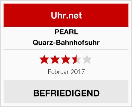 PEARL Quarz-Bahnhofsuhr Test