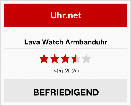 Lava Watch Armbanduhr Test