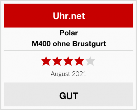 Polar M400 ohne Brustgurt Test