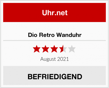 No Name Dio Retro Wanduhr Test