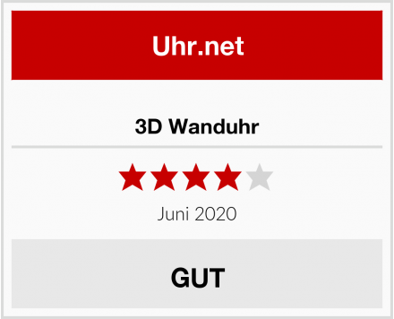 No Name 3D Wanduhr Test