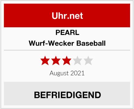 PEARL Wurf-Wecker Baseball Test