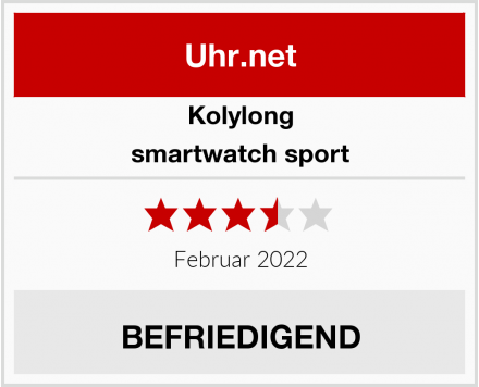 Kolylong smartwatch sport Test