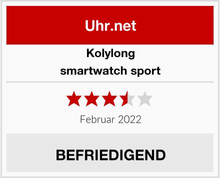 Kolylong smartwatch sport Test