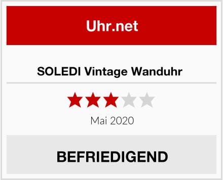 SOLEDI Vintage Wanduhr  Test