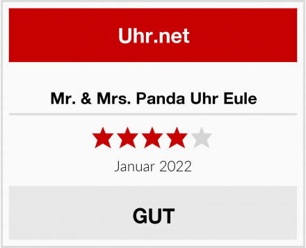 No Name Mr. & Mrs. Panda Uhr Eule Test