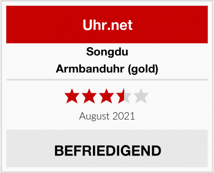 Songdu Armbanduhr (gold) Test