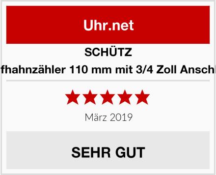SCHÜTZ Zapfhahnzähler 110 mm mit 3/4 Zoll Anschluss Test