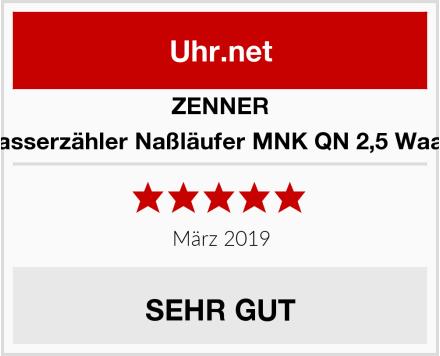 Zenner Haus Wasserzähler Naßläufer MNK QN 2,5 Waagerecht Test