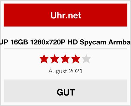 WISEUP 16GB 1280x720P HD Spycam Armbanduhr Test
