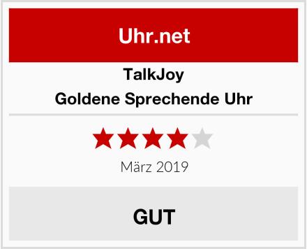 TalkJoy Goldene Sprechende Uhr Test