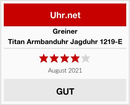 Greiner Titan Armbanduhr Jagduhr 1219-E Test