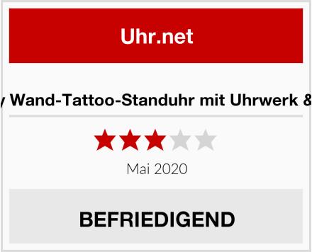 infactory Wand-Tattoo-Standuhr mit Uhrwerk & Zeigern Test
