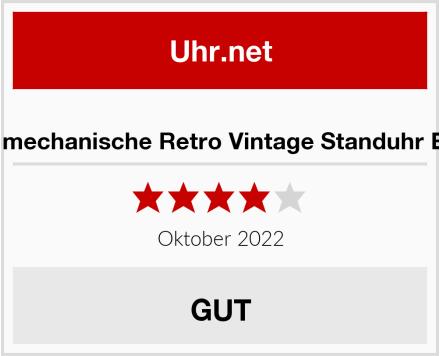 Maxstore Große mechanische Retro Vintage Standuhr Europa Mahagoni Test