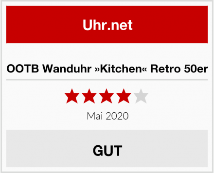 OOTB Wanduhr »Kitchen« Retro 50er Test