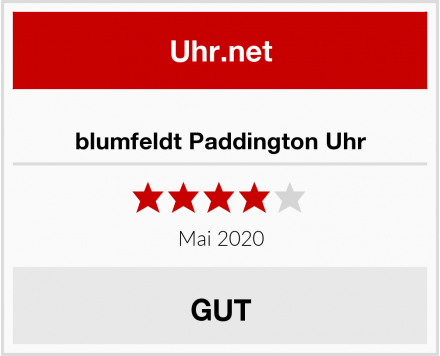 blumfeldt Paddington Uhr Test