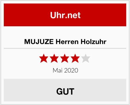 MUJUZE Herren Holzuhr Test