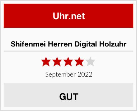 Shifenmei Herren Digital Holzuhr Test