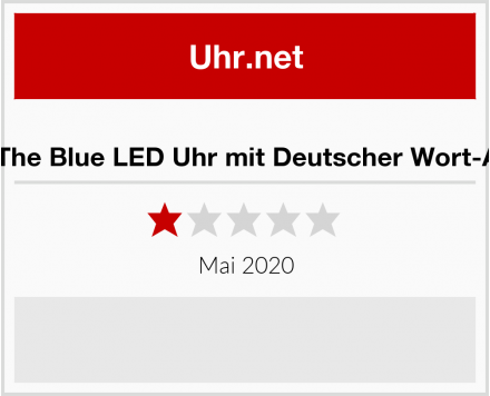 No Name Out of The Blue LED Uhr mit Deutscher Wort-Anzeige Test