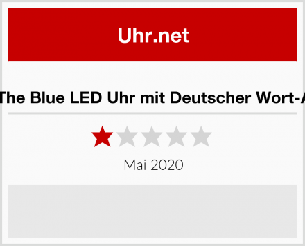 Out of The Blue LED Uhr mit Deutscher Wort-Anzeige Test