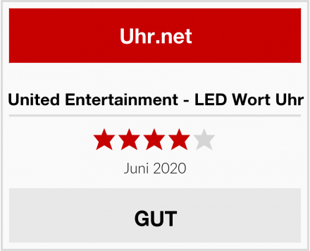 United Entertainment - LED Wort Uhr Test