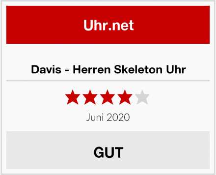 No Name Davis - Herren Skeleton Uhr Test