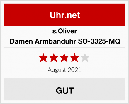 s.Oliver Damen Armbanduhr SO-3325-MQ Test