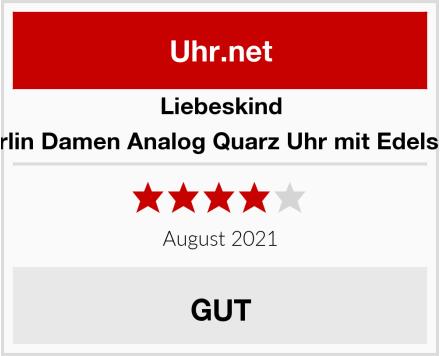 Liebeskind Berlin Damen Analog Quarz Uhr mit Edelstah Test