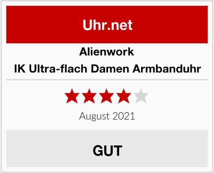 Alienwork IK Ultra-flach Damen Armbanduhr Test