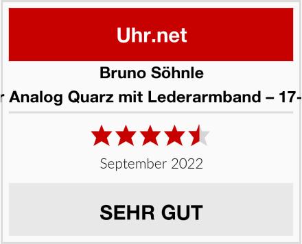 Bruno Söhnle Herrenuhr Analog Quarz mit Lederarmband – 17-13055-241 Test