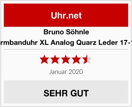 Bruno Söhnle Herren-Armbanduhr XL Analog Quarz Leder 17-13146-231 Test