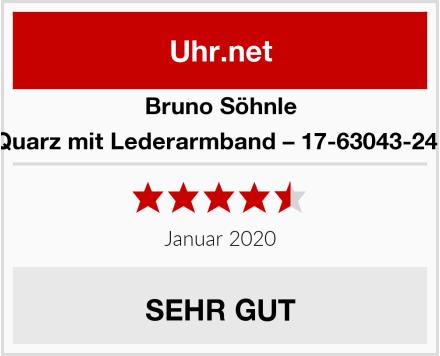Bruno Söhnle Quarz mit Lederarmband – 17-63043-241 Test