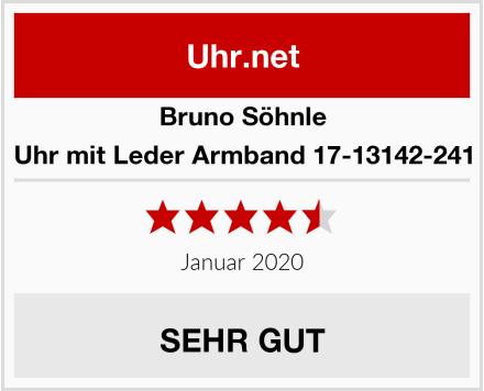 Bruno Söhnle Uhr mit Leder Armband 17-13142-241 Test