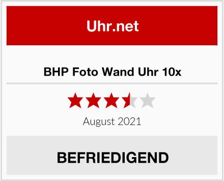 BHP Foto Wand Uhr 10x Test