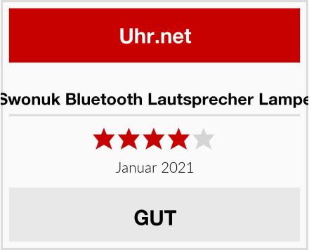 Swonuk Bluetooth Lautsprecher Lampe Test
