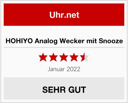 HOHIYO Analog Wecker mit Snooze Test