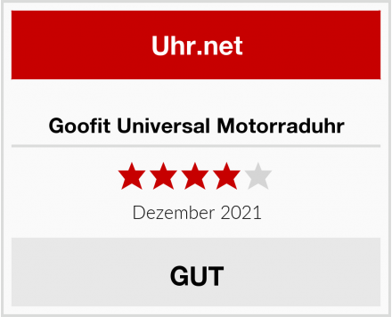 Goofit Universal Motorraduhr Test