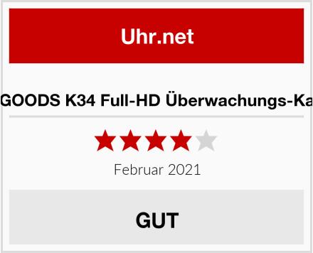 KOBERT GOODS K34 Full-HD Überwachungs-Kamera Uhr Test