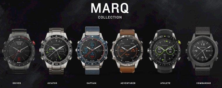 Die Uhren der Marq Kollektion unterscheiden sich nicht nur in Design und Farbe, sondern kommen auch mit unterschiedlichen Funktionen.