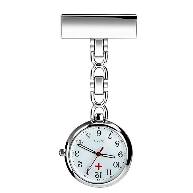 No Name BestFire Krankenschwester Revers Pin-Uhr-Clip