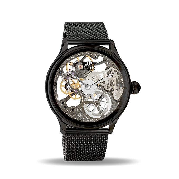 No Name Davis - Herren Skeleton Uhr