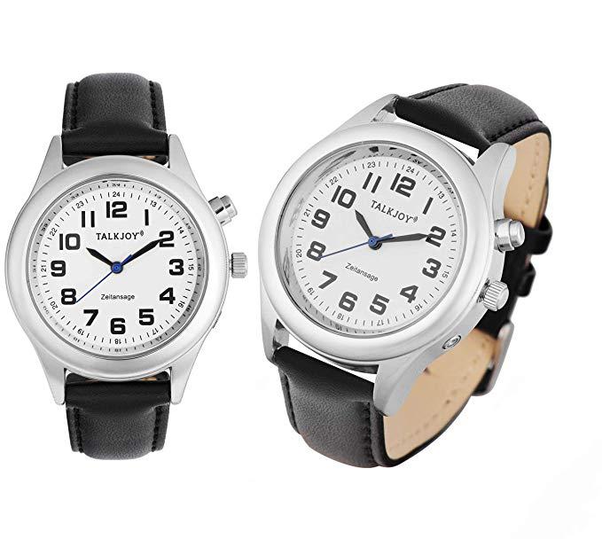 TalkJoy Lederarmband Damen Sprechende Armbanduhr